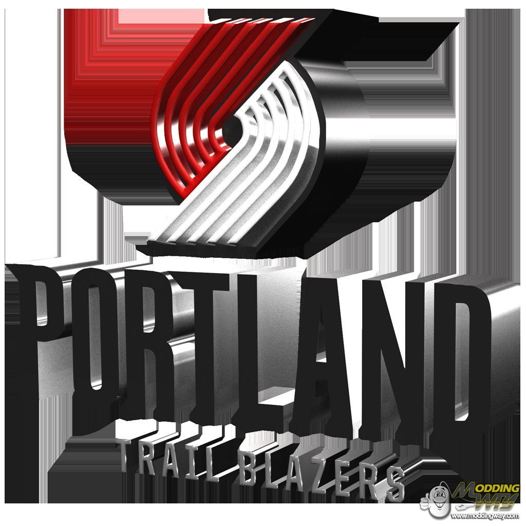 Portland Trail Blazers new Logo in 3D.