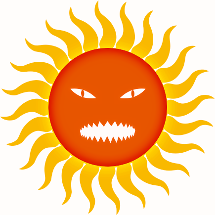 Hot Sun Clipart.
