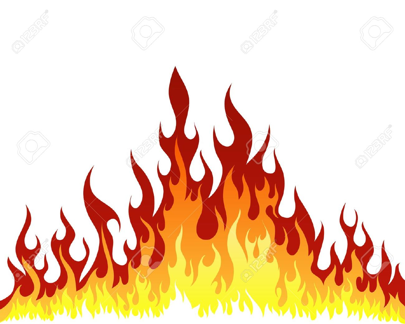 Blazing fire clipart.
