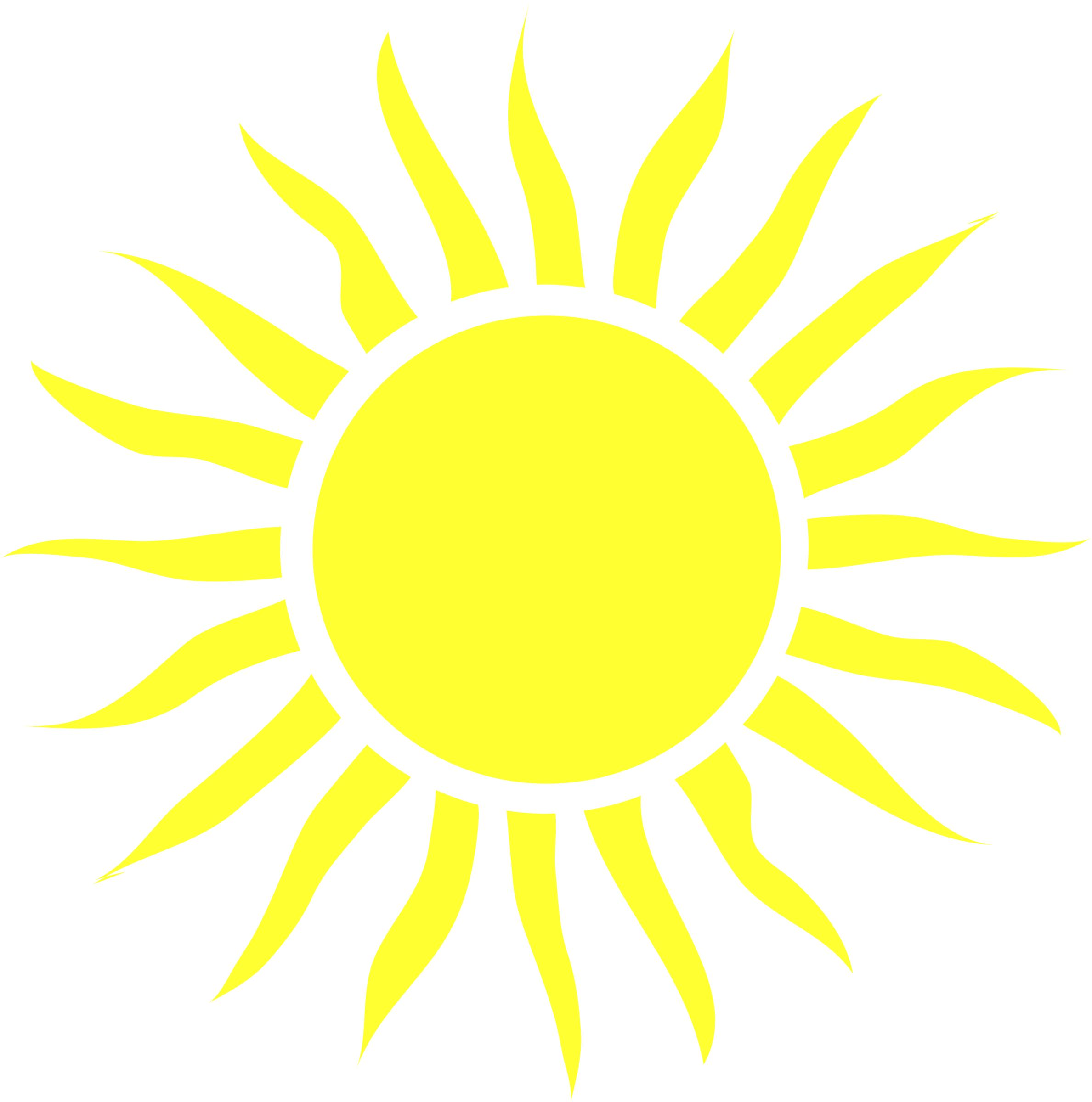 Blazing Sun Clipart.