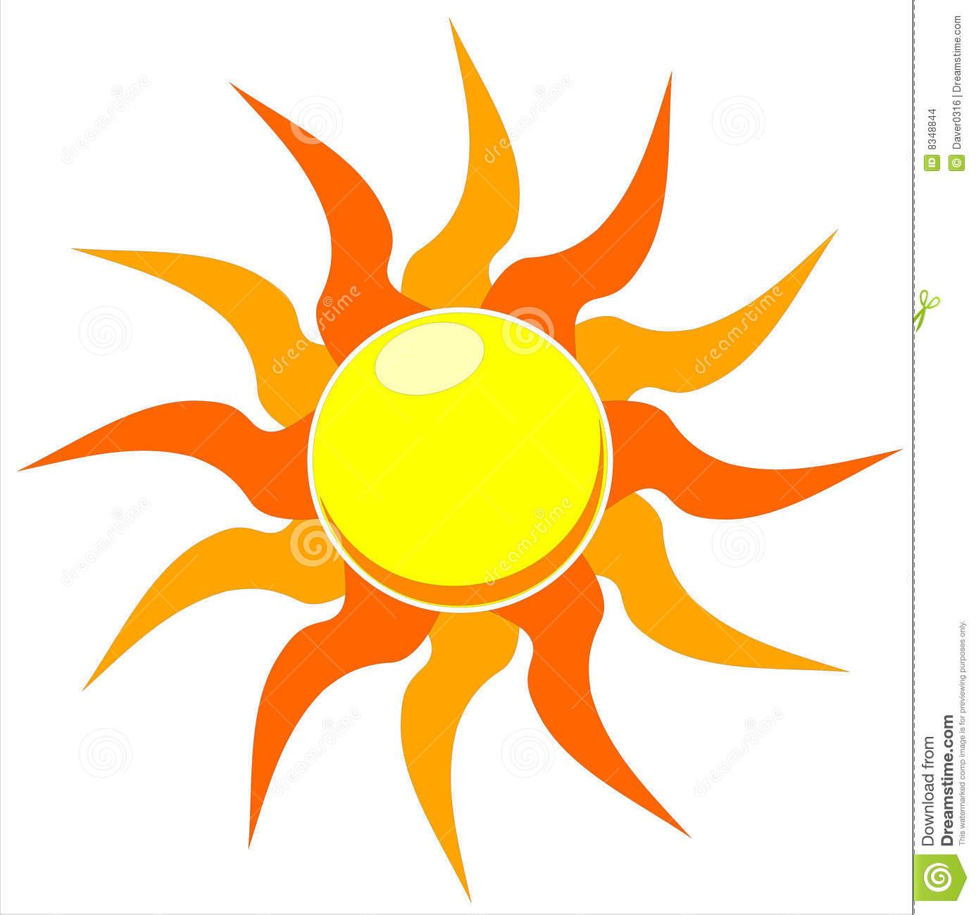 Blazing Sun Vector Illustration Stock Vector.