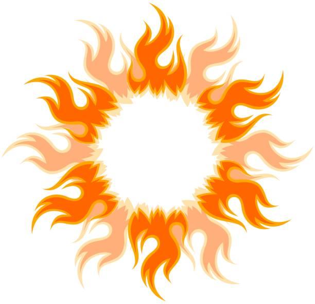 Best Blazing Sun Illustrations, Royalty.