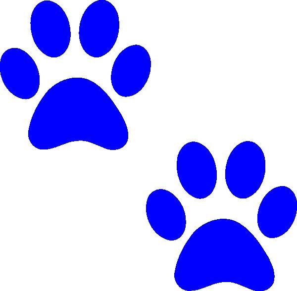 Ble Paw Prints PNG, SVG Clip art for Web.