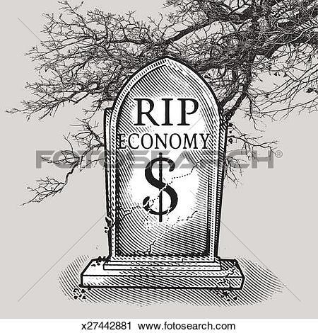 Stock Photography of Bleak Economic Forecast x27442881.