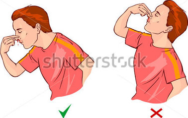 Nose Bleed Clipart.