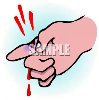 Bleeding Cut Clipart.