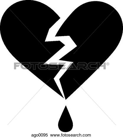 Stock Illustration of A pictorial illustration of a bleeding heart.