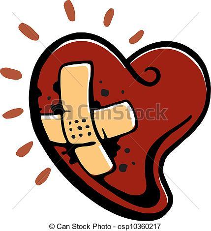 Bleeding heart clipart.