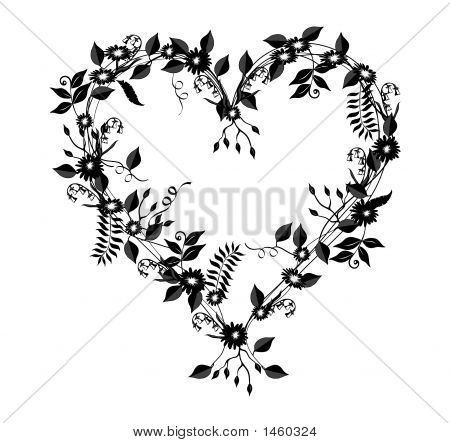 Vine And Floral Heart Stock Photo & Stock Images.