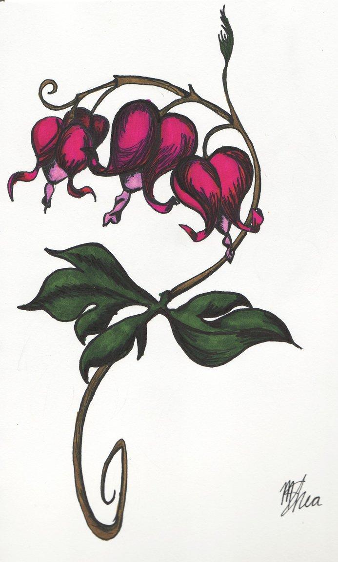 bleeding heart flower tattoos.