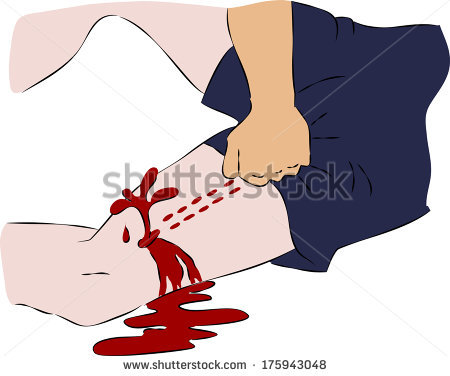 Showing post & media for First aid bleeding cartoon.