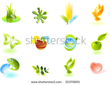 Mango Logo Flat Design Fruit Vector Stock.
