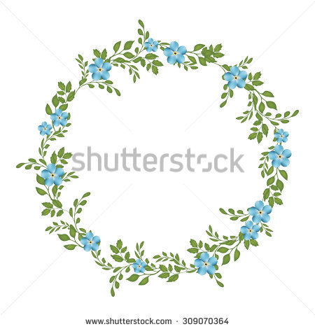 Watercolor Succulents Wreath Vintage Round Frame Stock.