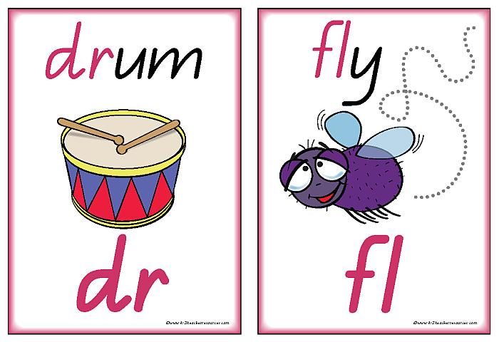 Art clipart for consonant blends.