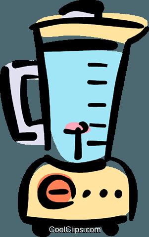 electric blender Royalty Free Vector Clip Art illustration.