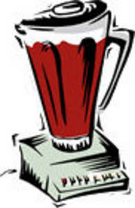 Clipart Picture of an Electric Blender.