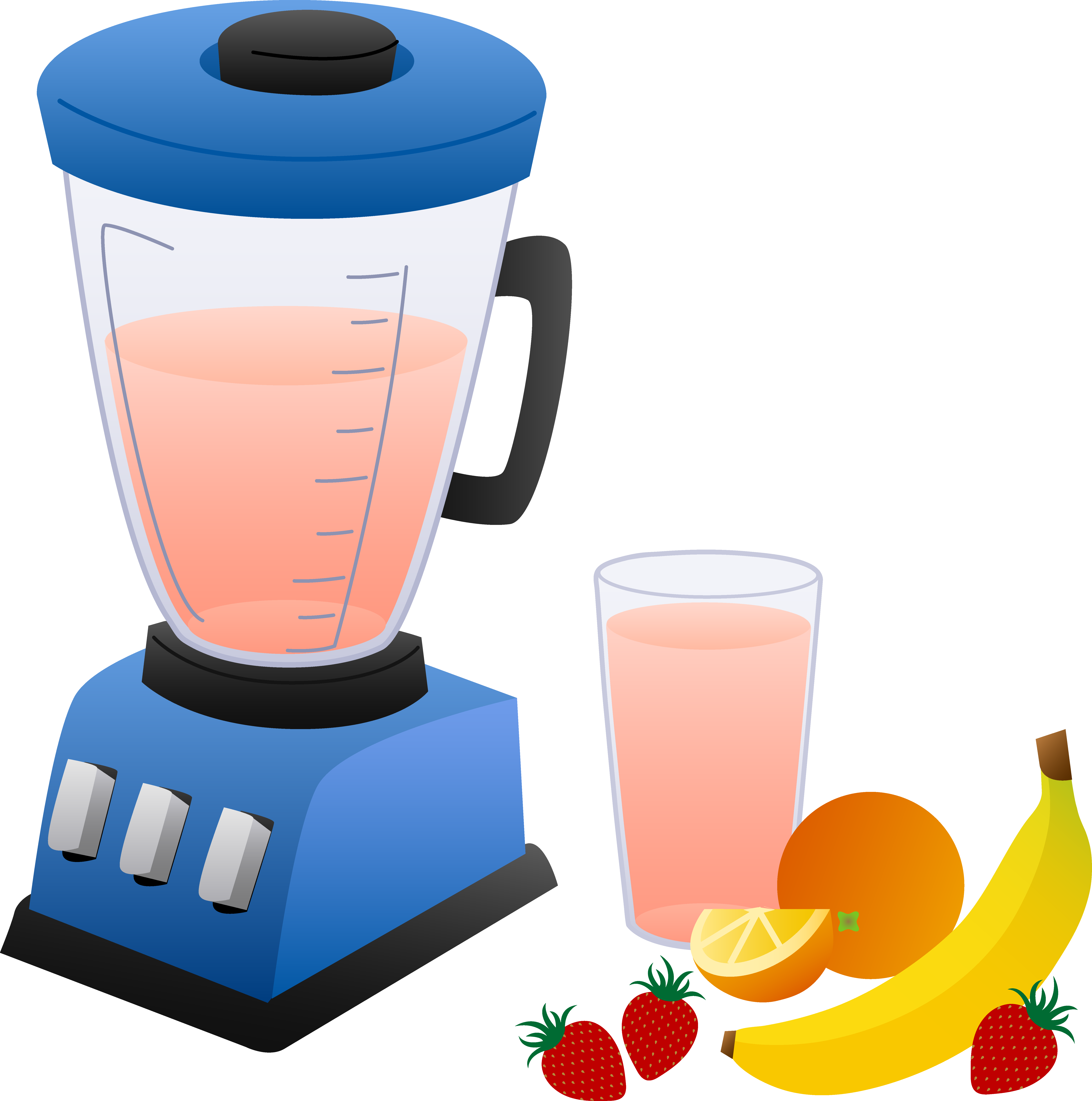 Blender With Fruits and Smoothie.