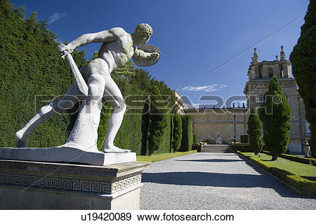 Stock Photograph of England, Oxfordshire, Blenheim Palace, Gardens.