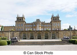Stock Photography of Blenheim Palace, Woodstock, England.