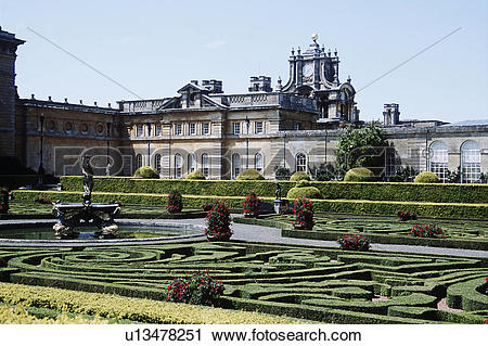 Stock Photography of Blenheim Palace, Woodstock, near Oxford.