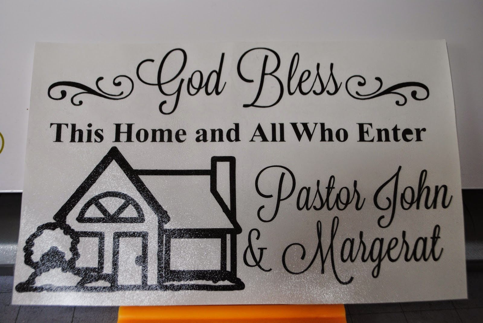 Bless this house clipart.