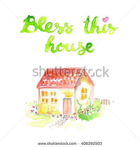 Bless This Home Stock Images, Royalty.