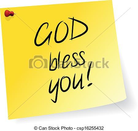 Vectors of God Bless You.