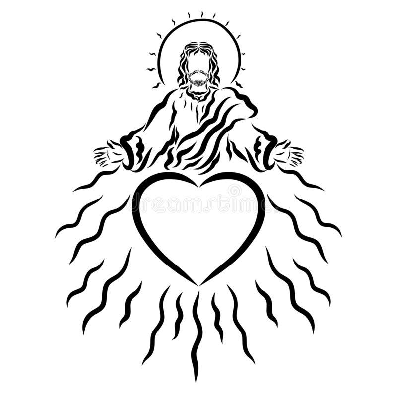 Blessing Jesus Stock Illustrations.