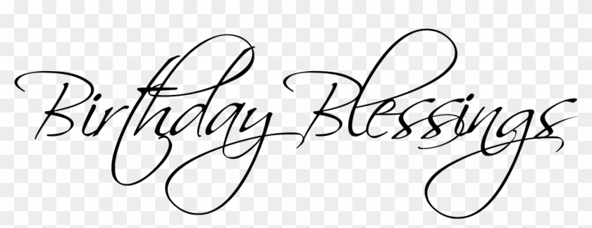 Happy Birthday Blessings Clipart, HD Png Download.