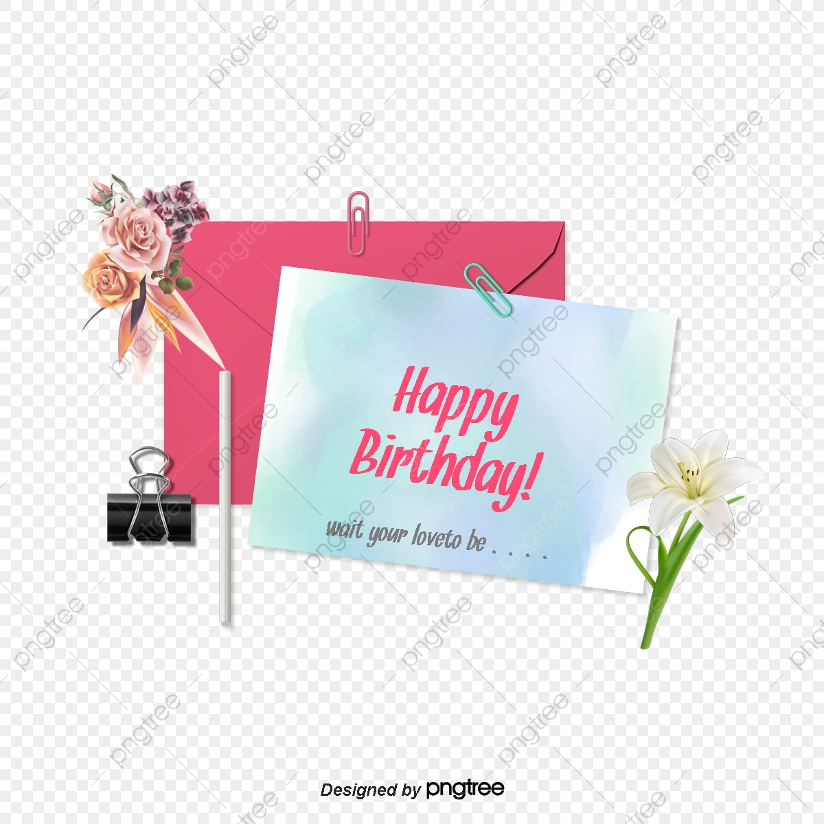 Birthday Cards Blessing, Free Stock Png, Png Picture Material.