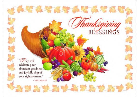 Thanksgiving blessings clipart.