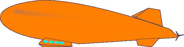 Orange Blimp Clip Art at Clker.com.