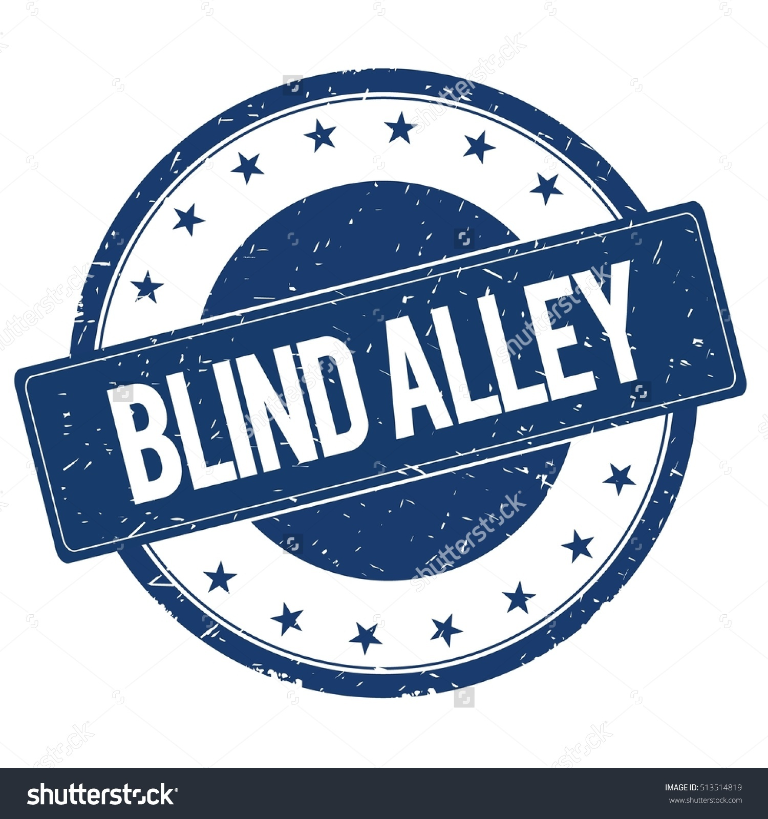 Blind Alley Stamp Sign Text Word Stock Illustration 513514819.