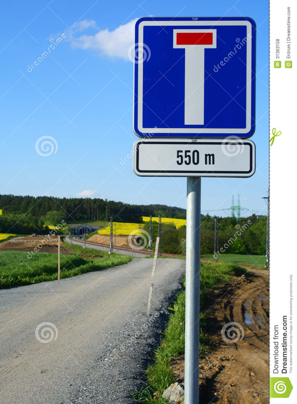 Dead End (blind Alley) Royalty Free Stock Photos.