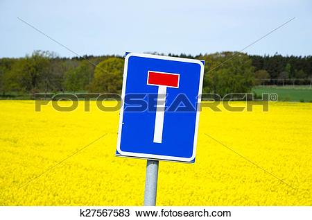 Stock Photo of Blind alley roadsign k27567583.