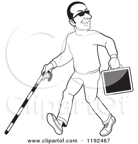 Blind Black And White Clipart.