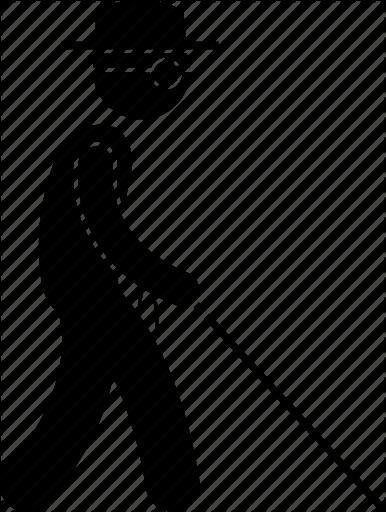 Image result for blind man WALKING clipart.