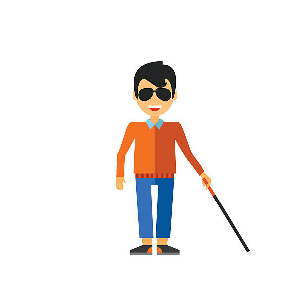 Best Blind Person Walking Illustrations, Royalty.