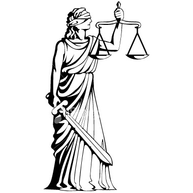 Blind Justice Statue Clip Art.