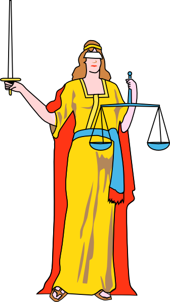 Lady Blind Justice clip art Free Vector / 4Vector.