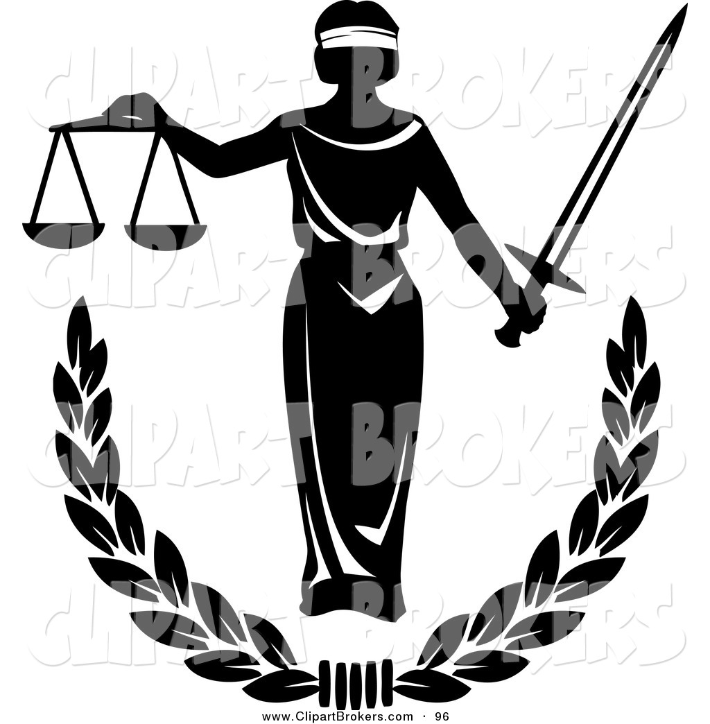 Clip Art Blind Justice Clipart.