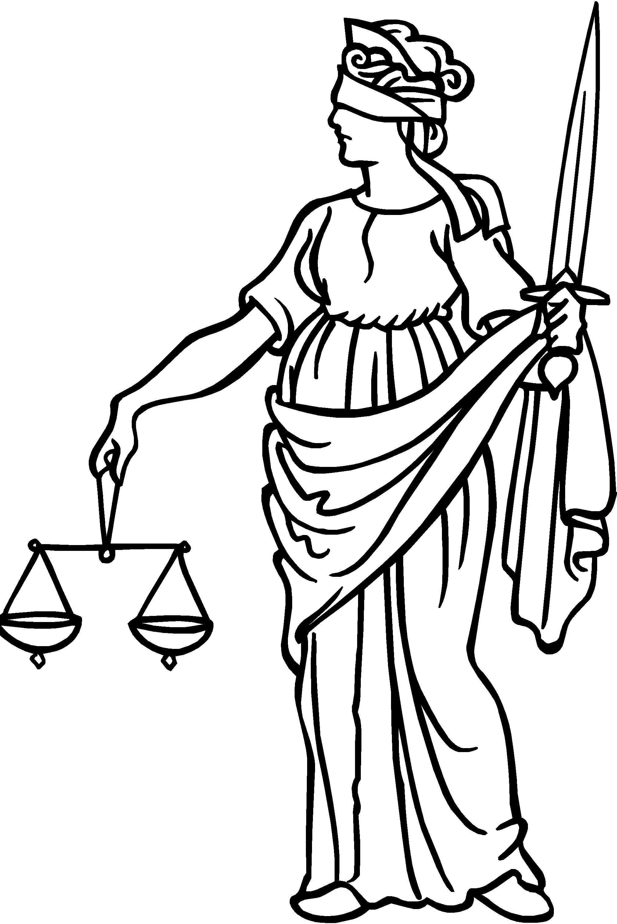 Blind justice clipart.