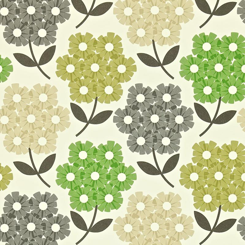 Buy Orla Kiely 110413 Rhododendron Wallpaper.