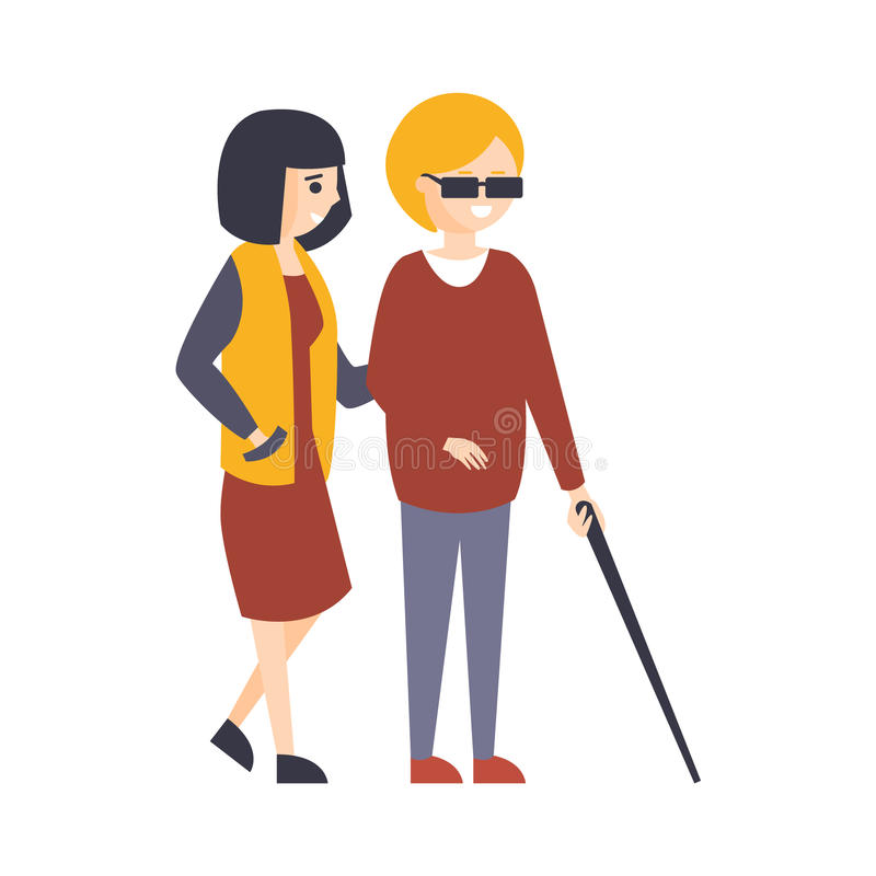 Blind Person Stock Illustrations.