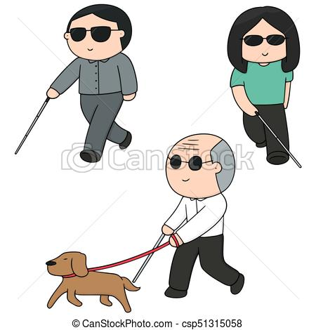 Blind people Vectors, Vector Clipart & EPS images.