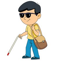 Blind person with cane clipart » Clipart Portal.