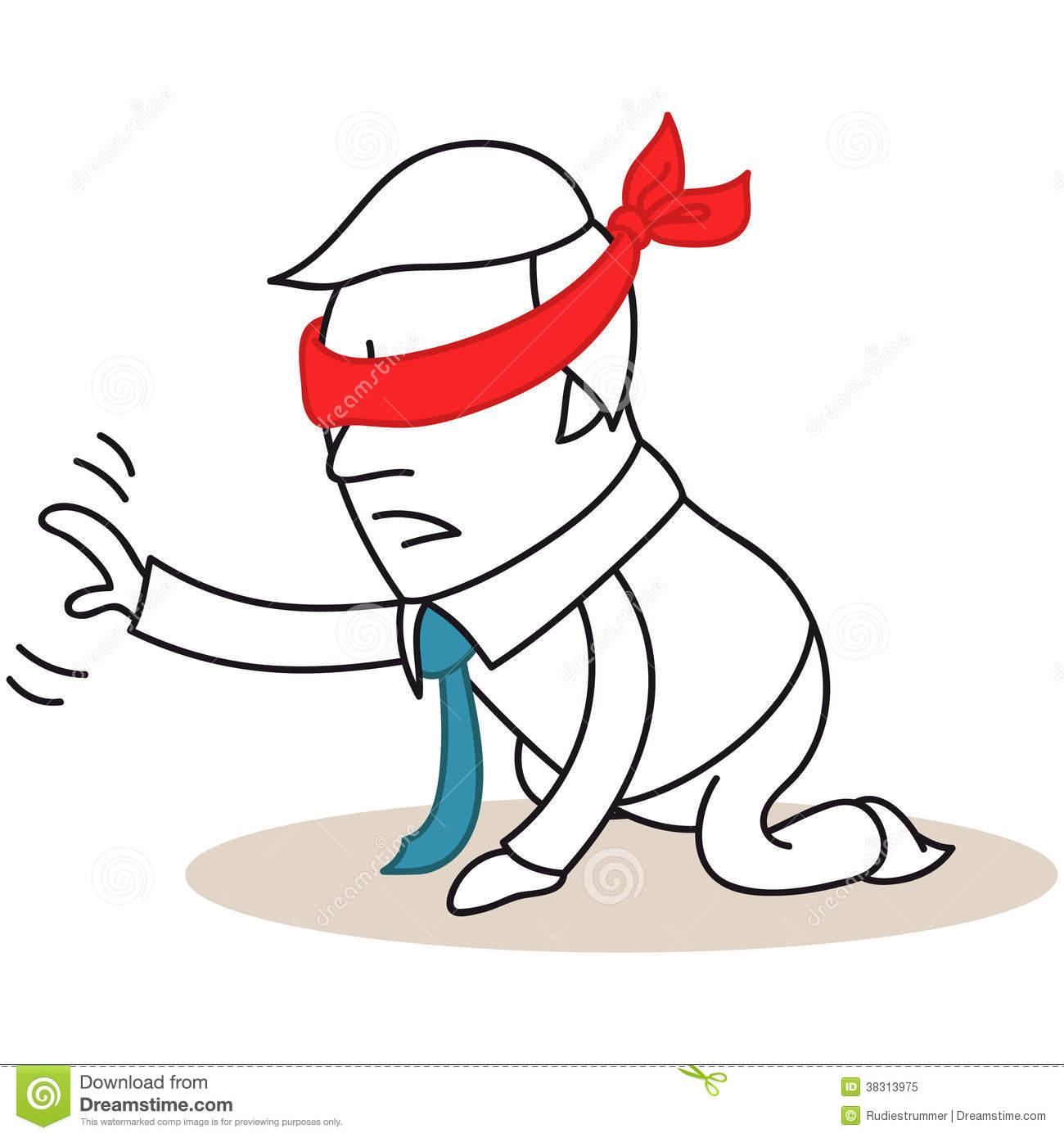 Blindfolded Stock Illustrations.