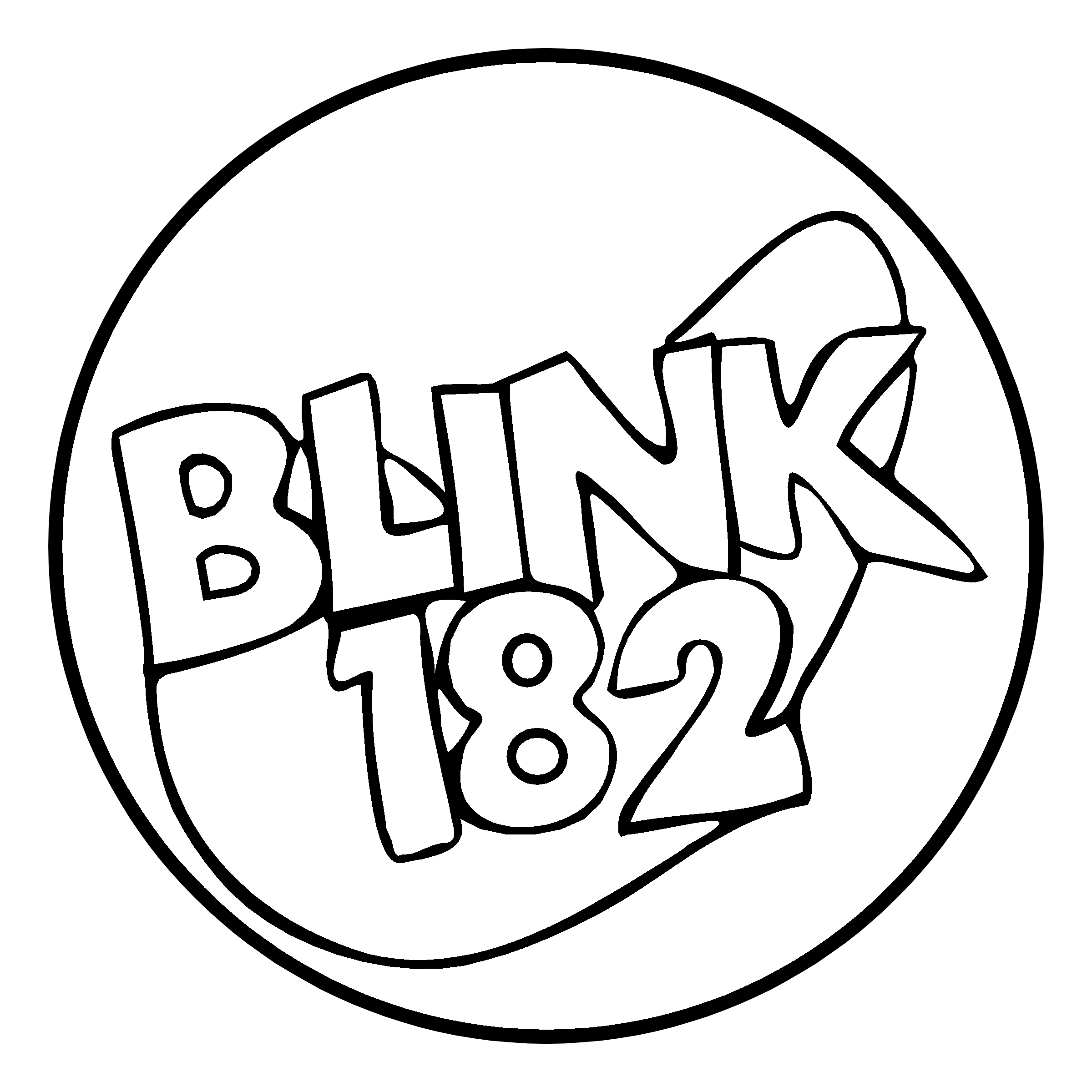 Blink 182 Logo PNG Transparent & SVG Vector.