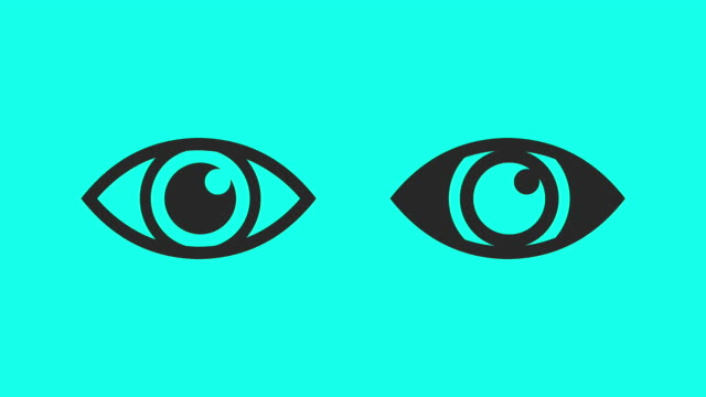 Blinking Eye Vector Animate Stock Footage Video.