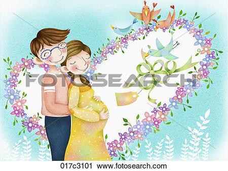 Clipart of blissful parents 017c3101.